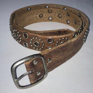American Eagle Western Brown Genuine Leather Belt